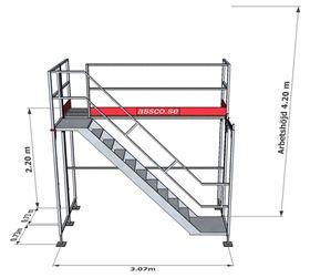 Bild på Trapptorn till Ramställning stål 1 vån
