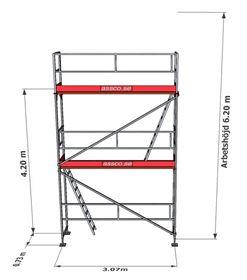 Bild på Stegplan till Rampaket alu 2 våningar