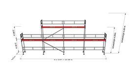 Bild på Rampaket alu 6 (12x4m + dubbel topp)
