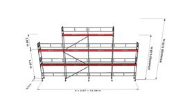 Bild på Rampaket alu 14 (12x6m + dubbel topp)