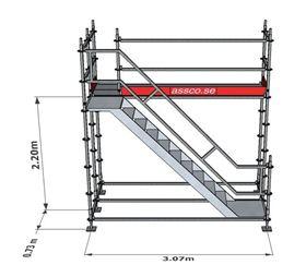 Bild på Trapptorn till modulställning 1 våning