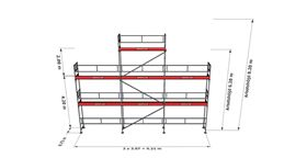 Bild på Rampaket alu 12 (9x6m + gaveltopp)