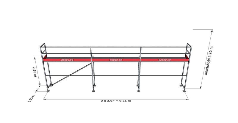 Bild på Rampaket stål 3 (9x4m)