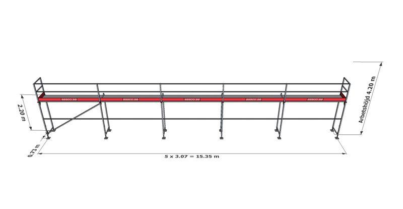 Bild på Rampaket stål 7 (15x4m)