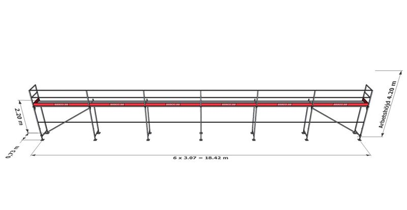 Bild på Rampaket stål 8 (18x4m)