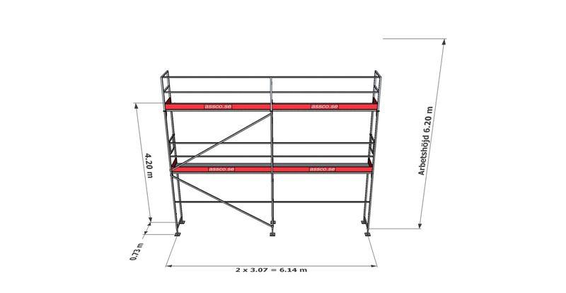 Bild på Rampaket stål 10 (6x6m)