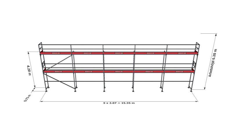 Bild på Rampaket stål 15 (15x6m)