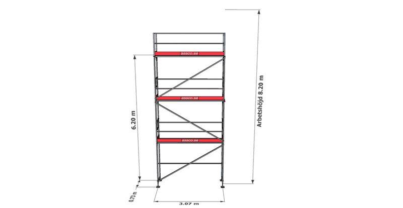 Bild på Rampaket stål 17 (3x8m)