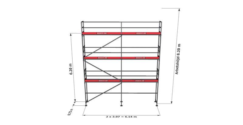 Bild på Rampaket stål 18 (6x8m)