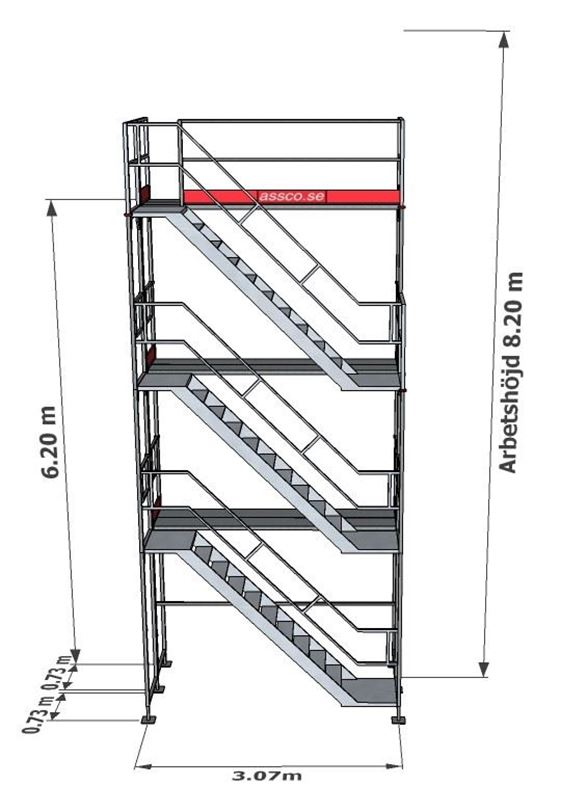 Bild på Trapptorn till Ramställning stål 3 vån