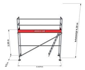 Bild på Stegplan till Rampaket stål 1 vån