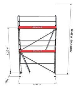 Bild på Stegplan till Rampaket stål 2 vån