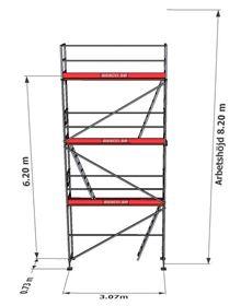 Bild på Stegplan till Rampaket stål 3 vån