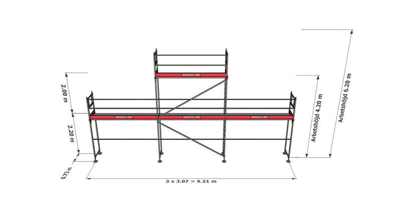 Bild på Rampaket stål 4 (9x4m + gaveltopp)
