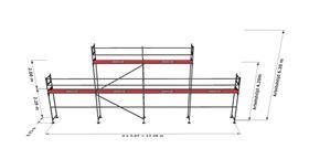 Bild på Rampaket stål 6 (12x4m + dubbel topp)