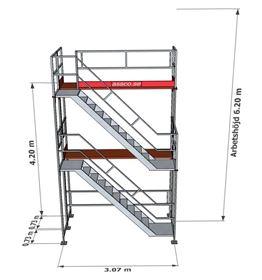 Bild på Trapptorn till Rampaket alu 2 vån