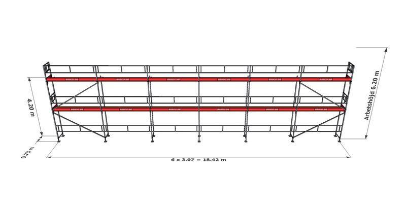 Bild på Rampaket alu 16 (18x6m)