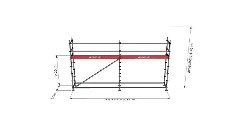 Bild på Modulställningspaket 2 (6x4m)