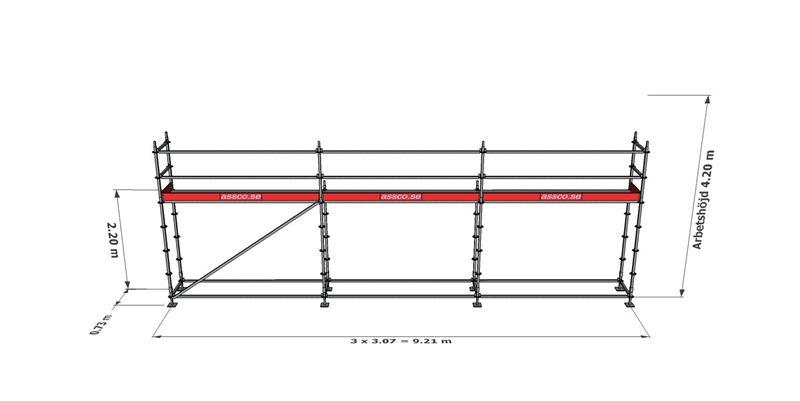 Bild på Modulställningspaket 3 (9x4m)