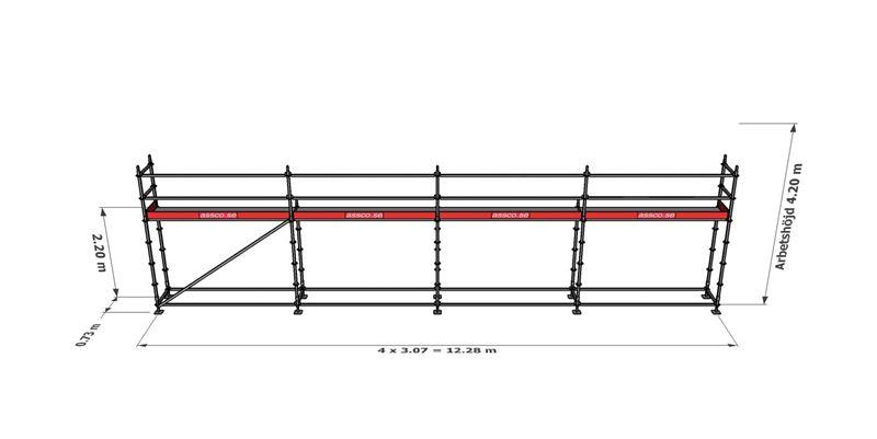 Bild på Modulställningspaket 5 (12x4m)