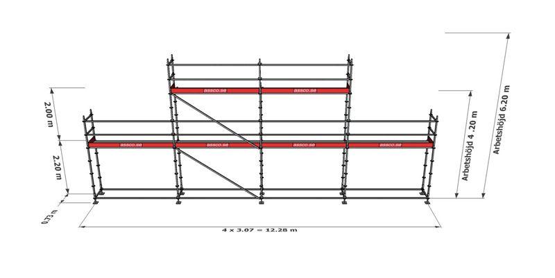 Bild på Modulställningspaket 6 (12x4m + topp)