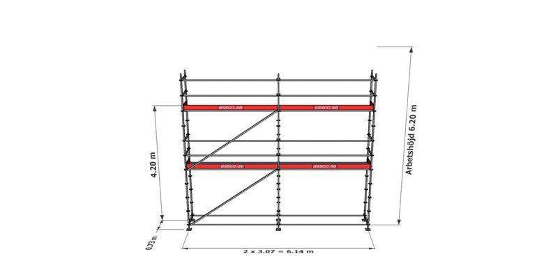 Bild på Modulställningspaket 10 (6x6m)