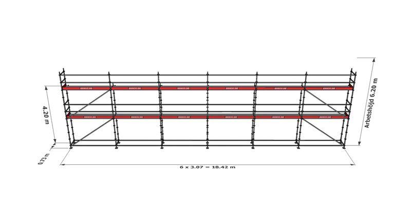 Bild på Modulställningspaket 16 (18x6m)