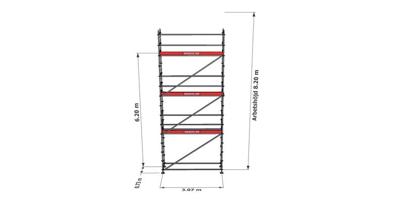 Bild på Modulställningspaket 17 (3x8m)