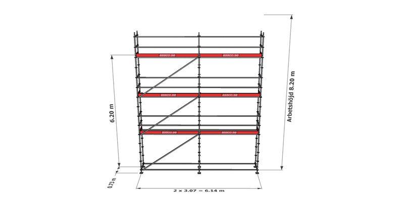 Bild på Modulställningspaket 18 (6x8m)