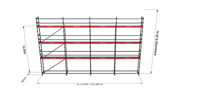 Bild på Modulställningspaket 20 (12x8m)