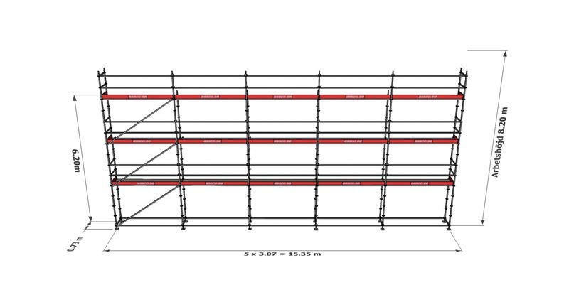 Bild på Modulställningspaket 21 (15x8m)