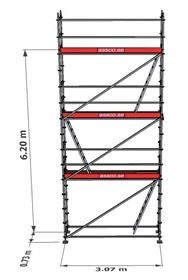 Bild på Stegplan till Modulställning 3 våningar