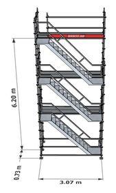 Bild på Trapptorn till modulställning 3 våningar