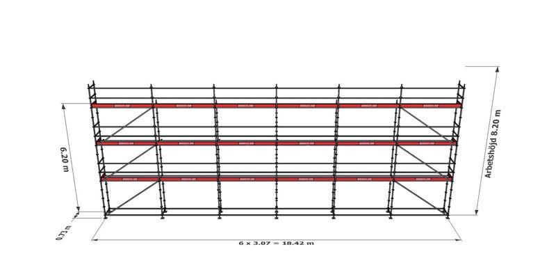Bild på Modulställningspaket 22 (18x8m)