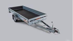 Bild på Släpvagn Enaxlad 3,50 x 1,50m 1000kg Bromsad