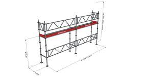 Bild på Modulställningspaket 2 (6x4m) med Dubbelräcke