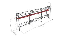 Bild på Modulställningspaket 3 (9x4m) med Dubbelräcke