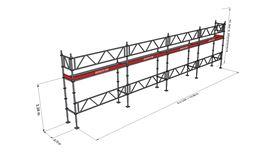 Bild på Modulställningspaket 5 (12x4m) med Dubbelräcke