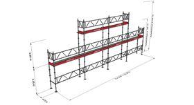 Bild på Modulställningspaket 6 (12x4m + topp) med Dubbelräcke