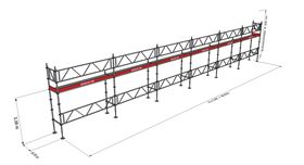 Bild på Modulställningspaket 8 (18x4m) med Dubbelräcke