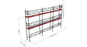 Bild på Modulställningspaket 11 (9x6m) med Dubbelräcke