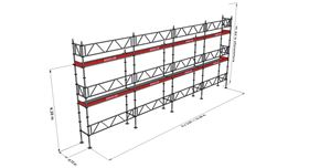 Bild på Modulställningspaket 13 (12x6m) med Dubbelräcke