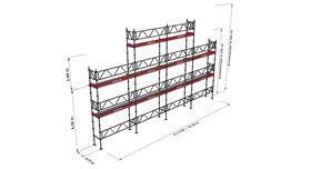 Bild på Modulställningspaket 14 (12x6m + topp) med Dubbelräcke