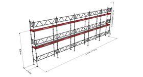 Bild på Modulställningspaket 15 (15x6m) med Dubbelräcke