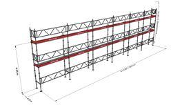 Bild på Modulställningspaket 16 (18x6m) med Dubbelräcke
