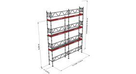Bild på Modulställningspaket 18 (6x8m) med Dubbelräcke
