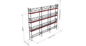 Bild på Modulställningspaket 19 (9x8m) med Dubbelräcke