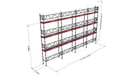 Bild på Modulställningspaket 20 (12x8m) med Dubbelräcke