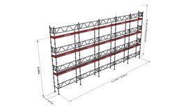 Bild på Modulställningspaket 21 (15x8m) med Dubbelräcke