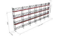 Bild på Modulställningspaket 22 (18x8m) med Dubbelräcke